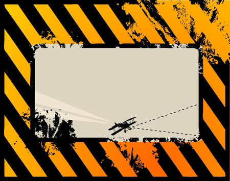 Black and yellow grunge background with space for text Vector