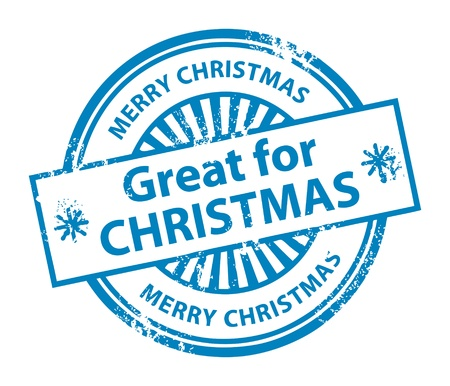 Grunge rubber stamp with the word Great for Christmas inside Vector