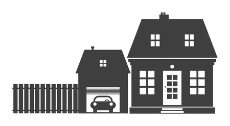 Home and garage Vector