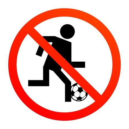 förbjuda: Ingen pjäs eller fotboll tecken