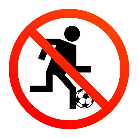 zones: No play or football sign Illustration