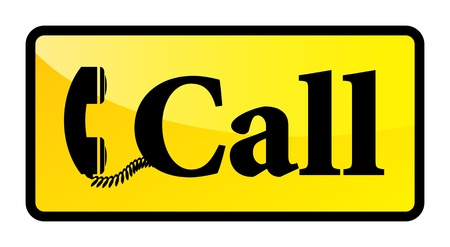 landlines: Telephone sign, vector illustration