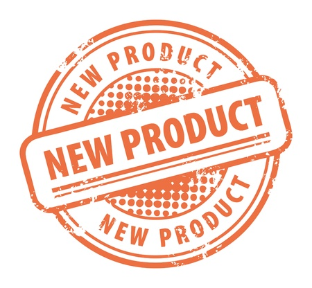 best products: Abstract grunge rubber stamp with the word New Product written inside the stamp