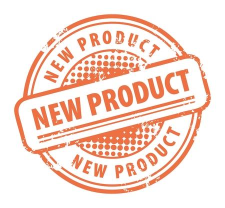 estampa: Grunge sello de goma con el producto de nuevas palabras por escrito dentro del sello Vectores