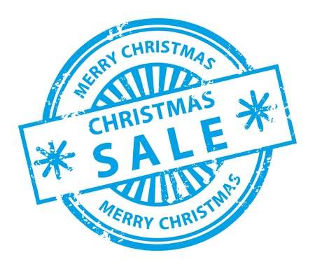 Grunge rubber stamp with small stars and the word Christmas Sale inside Stock Vector - 14019061
