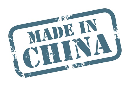 made in china: Abstract grunge rubber stamp with the word Made in China written inside the stamp Illustration