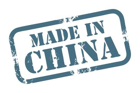 originales: Sello de goma del grunge abstracto con la palabra Made in China por escrito dentro del sello