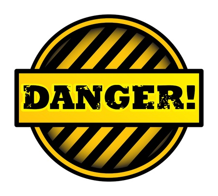 Abstract label with the word Danger written inside Stock Vector - 14019095