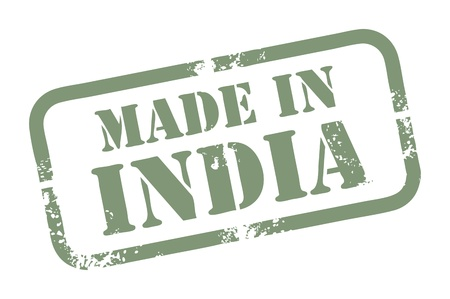 Abstract grunge rubber stamp with the word Made in India written inside the stamp Stock Vector - 14019091