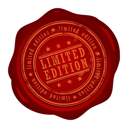Wax seal with small stars and the word Limited edition Stock Vector - 14019141