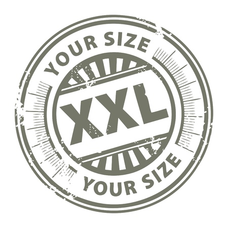 Grunge stamp with the clothing size XXL written inside Vector