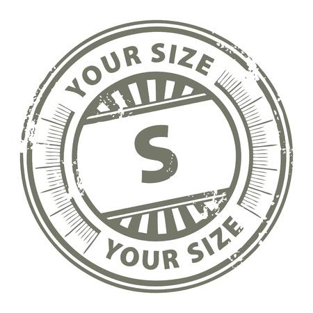 small size: Grunge sello con el tama�o de la ropa S escrito en su interior