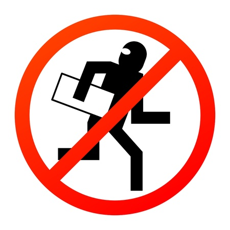 No thief sign Vector