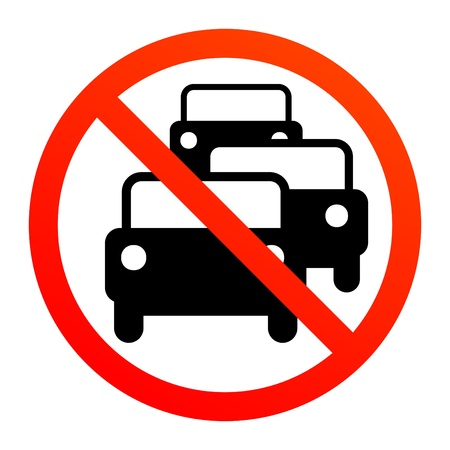 the traffic jam: No traffic jam sign Illustration