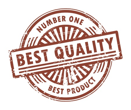 quality assurance: Grunge rubber stamp, with the text best quality written inside