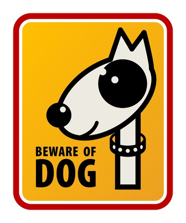 Beware of dog sign Stock Vector - 14068305