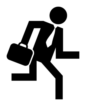Abstract businessman running icon Vector