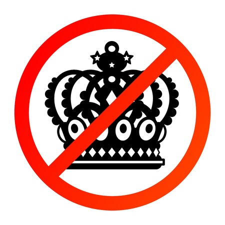 No Crown sign Stock Vector - 14068488