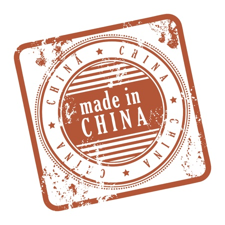 Grunge rubber stamp made in China Stock Vector - 14068515