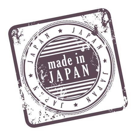 Grunge rubber stamp made in Japan Stock Vector - 14068514