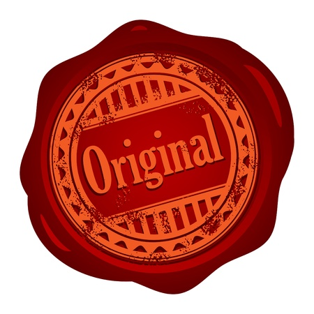 Wax seal with small stars and the word Original Vector