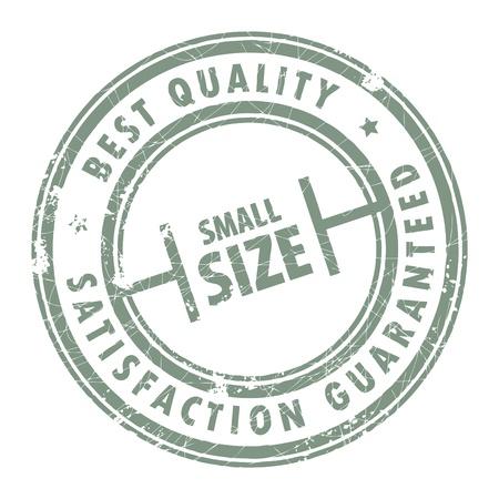 small size: Grunge sello con el tama�o de las palabras escritas en el interior Peque�a