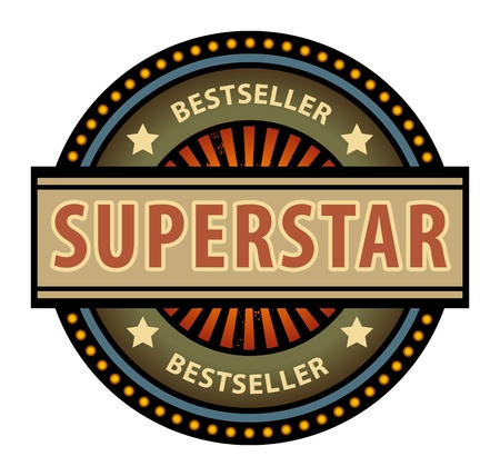 superstar: Abstract label with the word Superstar Illustration