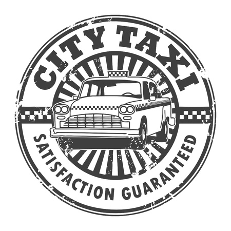 City taxi stamp Vector