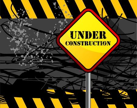 Under construction grunge background Stock Vector - 14068558