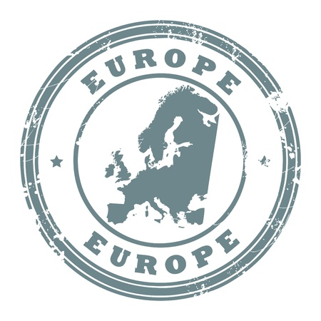 Grunge rubber stamp with the text Europe written inside the stamp Vector