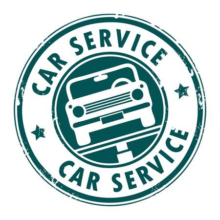 servicing: Car service grunge stamp