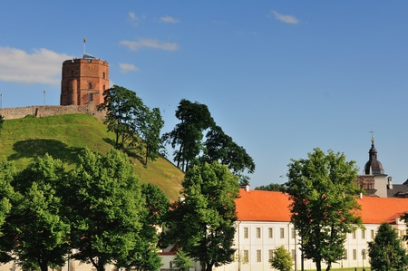 Vilnius, Tower of Gediminas, symbol of Vilnius  Summer  photo