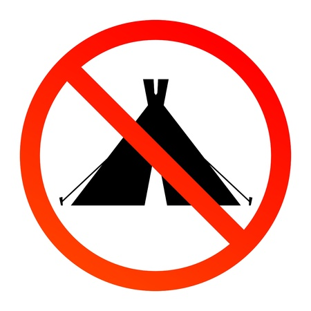 no fires sign: No Camping Sign Illustration