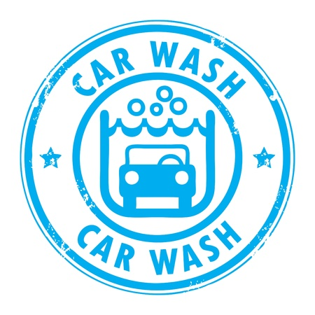 wash: Abstract grunge rubber stamp with the words car wash written inside