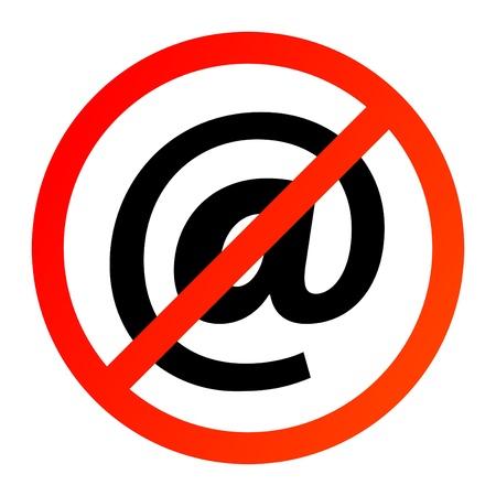 No e-mail Stock Vector - 14169771