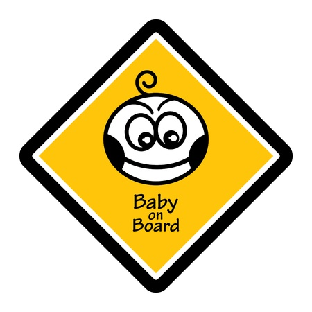 Baby on board sign Stock Vector - 14169834