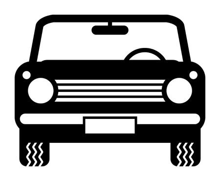 Car simbolo Vettoriali