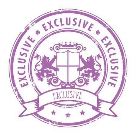 Grunge sello de goma con la palabra exclusiva por escrito dentro del sello Ilustración de vector