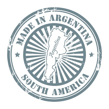 Grunge rubber stamp with the text made in Argentina written inside Stock Vector - 14169878