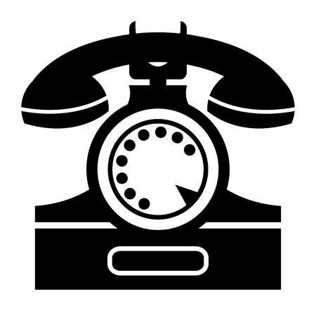 bakelite: illustration of an old telephone