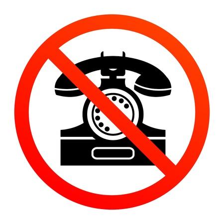 interdiction telephone: Aucun signe de t�l�phone Illustration
