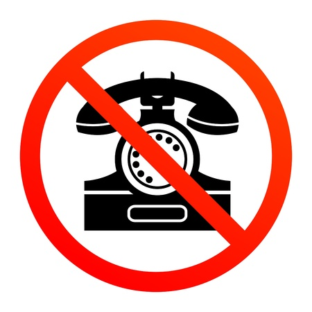No phone sign Stock Vector - 14169831