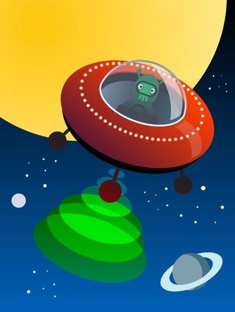UFO in space Vector