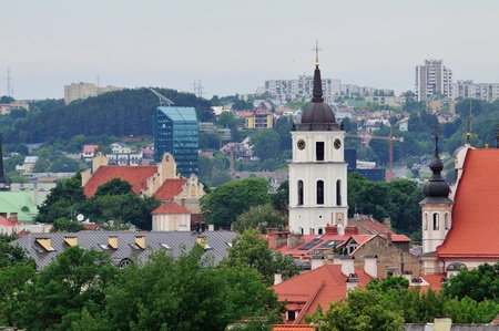 Old town in Vilnius, Lithuania  Summer photo