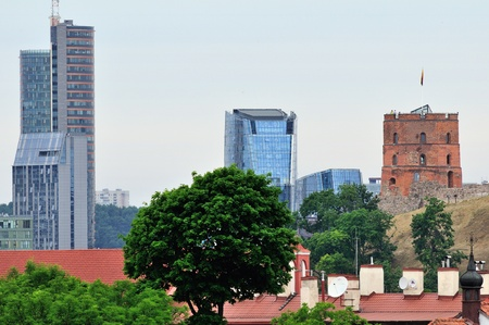 Old and new Vilnius, Lithuania  Summer photo