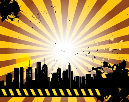 Grunge abstract urban background Vector