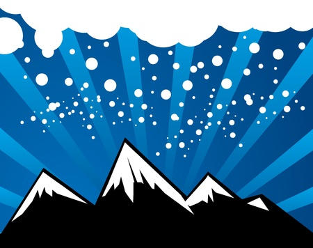 Abstract winter mountain background Stock Vector - 14169907