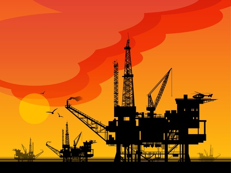 oil platform: Sea Oil Rig Drilling Platforms