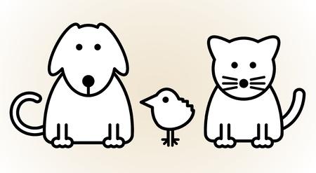 veterinarian symbol: Animali domestici Vettoriali