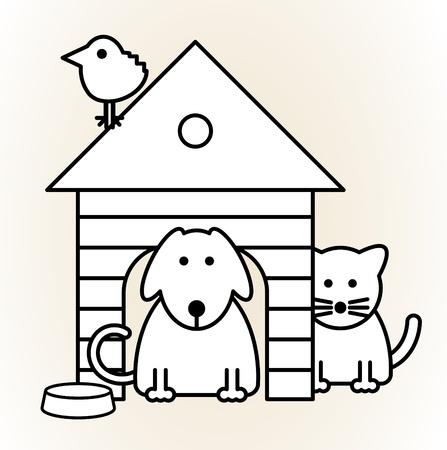 silueta de gato: Animales dom�sticos